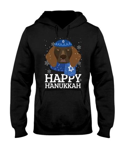 Happy Hanukkah German Shorthaired Pointer