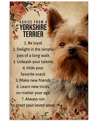 Advice From A Yorkshire Terrier