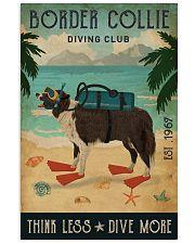 Vintage Diving Club Border Collie 11x17 Poster front