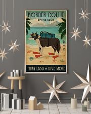 Vintage Diving Club Border Collie 11x17 Poster lifestyle-holiday-poster-1
