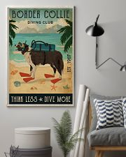 Vintage Diving Club Border Collie 11x17 Poster lifestyle-poster-1