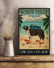 Vintage Diving Club Border Collie 11x17 Poster lifestyle-poster-3