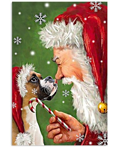 Boxer Smile With Santa Christmas