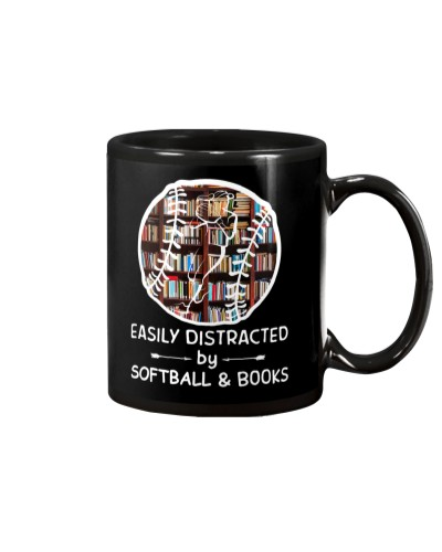 Easily Distracted By Softball And Books