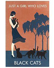 Vintage Girl Who Loves Black Cat 11x17 Poster front
