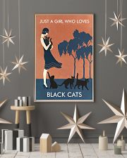 Vintage Girl Who Loves Black Cat 11x17 Poster lifestyle-holiday-poster-1