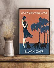 Vintage Girl Who Loves Black Cat 11x17 Poster lifestyle-poster-3