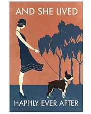 Vintage Girl She Lived Happily Boston Terrier 11x17 Poster front