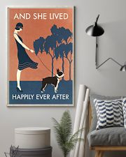 Vintage Girl She Lived Happily Boston Terrier 11x17 Poster lifestyle-poster-1