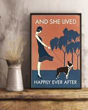 Vintage Girl She Lived Happily Boston Terrier 11x17 Poster lifestyle-poster-3