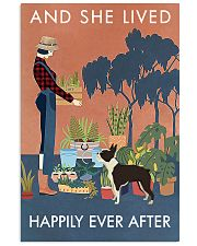 Vintage She Lived Happily Gardening Boston Terrier 16x24 Poster front