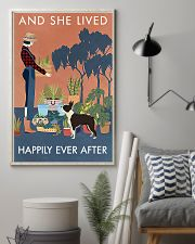 Vintage She Lived Happily Gardening Boston Terrier 16x24 Poster lifestyle-poster-1