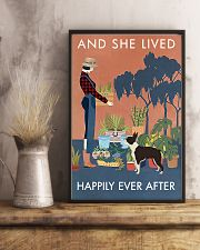 Vintage She Lived Happily Gardening Boston Terrier 16x24 Poster lifestyle-poster-3