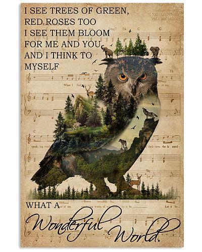 Music Sheet Wonderful World Owl