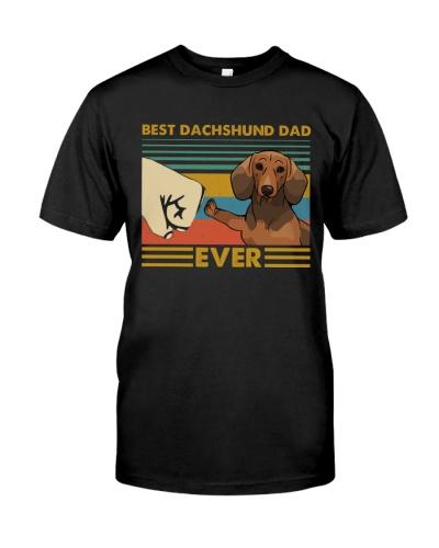 Retro Blue Best Dachshund Dad Ever