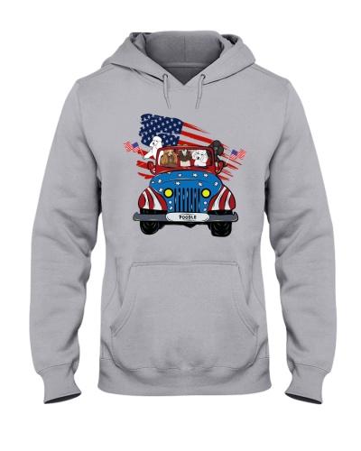 Patriotic Poodle Jeep
