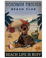 Vintage Beach Club Is Ruff Doberman Pinscher 11x17 Poster front