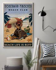 Vintage Beach Club Is Ruff Doberman Pinscher 11x17 Poster lifestyle-poster-1