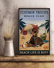 Vintage Beach Club Is Ruff Doberman Pinscher 11x17 Poster lifestyle-poster-3