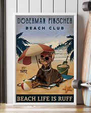 Vintage Beach Club Is Ruff Doberman Pinscher 11x17 Poster lifestyle-poster-4