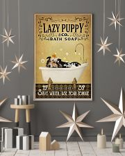 Yellow Bath Soap Shetland Sheepdog 11x17 Poster lifestyle-holiday-poster-1