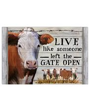 Hereford Cattle Live Like Someone Left Gate Open 24x16 Poster front