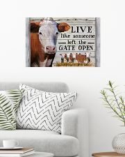 Hereford Cattle Live Like Someone Left Gate Open 24x16 Poster poster-landscape-24x16-lifestyle-01