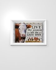 Hereford Cattle Live Like Someone Left Gate Open 24x16 Poster poster-landscape-24x16-lifestyle-02