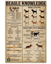 Knowledge Beagle 16x24 Poster front