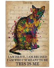 Vintage Music I Am Brave Pride Cat  11x17 Poster front