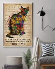 Vintage Music I Am Brave Pride Cat  11x17 Poster lifestyle-poster-1