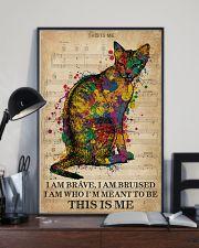 Vintage Music I Am Brave Pride Cat  11x17 Poster lifestyle-poster-2
