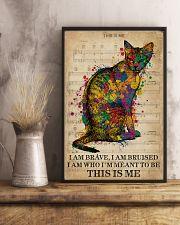Vintage Music I Am Brave Pride Cat  11x17 Poster lifestyle-poster-3