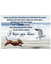 I Hope You Dance Dachshund 17x11 Poster front