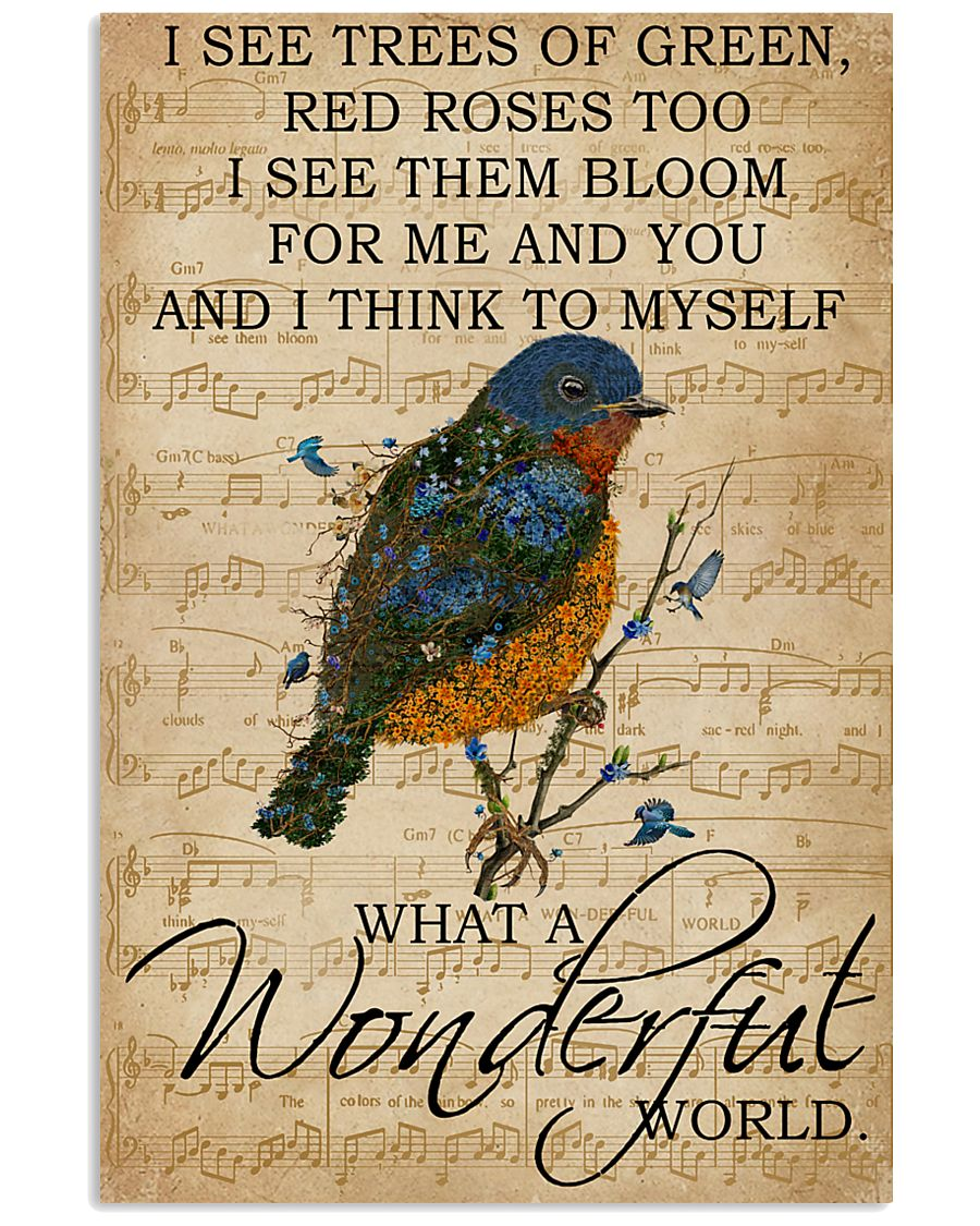 Music Sheet And I Think Bluebird 11x17 Poster