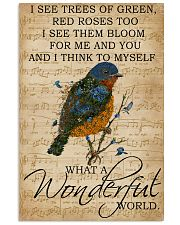 Music Sheet And I Think Bluebird 11x17 Poster front