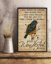 Music Sheet And I Think Bluebird 11x17 Poster lifestyle-poster-3