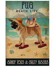 Beach Life Sandy Toes Pug 11x17 Poster front