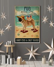 Beach Life Sandy Toes Pug 11x17 Poster lifestyle-holiday-poster-1