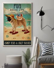 Beach Life Sandy Toes Pug 11x17 Poster lifestyle-poster-1
