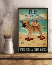 Beach Life Sandy Toes Pug 11x17 Poster lifestyle-poster-3
