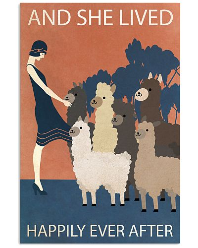 Vintage Girl Lived Happily With Alpacas
