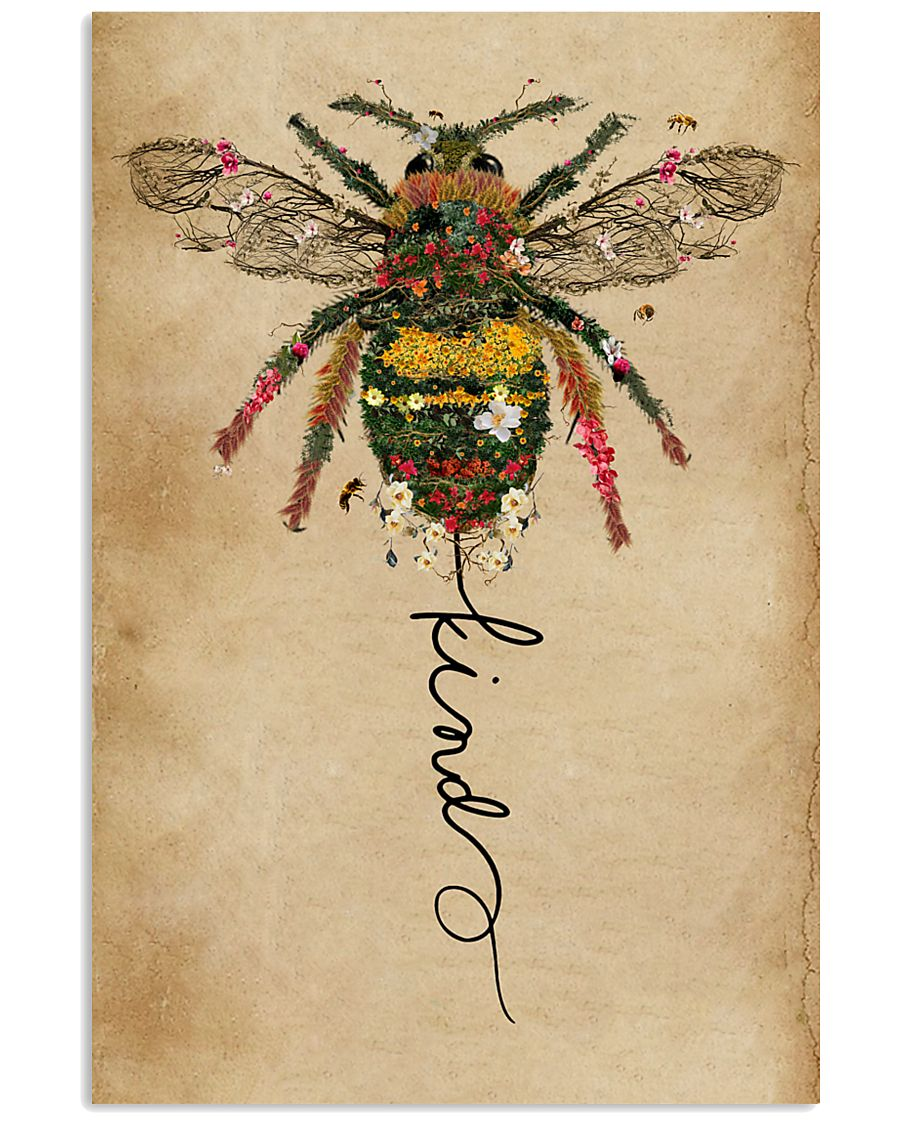 Bee Kind Floral 11x17 Poster