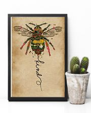 Bee Kind Floral 11x17 Poster lifestyle-poster-8