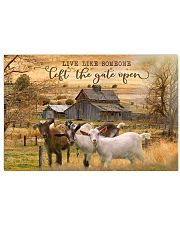 Goat Let The Gate Open 24x16 Poster front