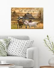 Goat Let The Gate Open 24x16 Poster poster-landscape-24x16-lifestyle-01