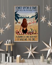 Vintage Beach Once Upon A Time Flamingo Red Girl 16x24 Poster lifestyle-holiday-poster-1