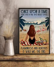 Vintage Beach Once Upon A Time Flamingo Red Girl 16x24 Poster lifestyle-poster-3