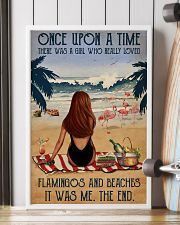 Vintage Beach Once Upon A Time Flamingo Red Girl 16x24 Poster lifestyle-poster-4