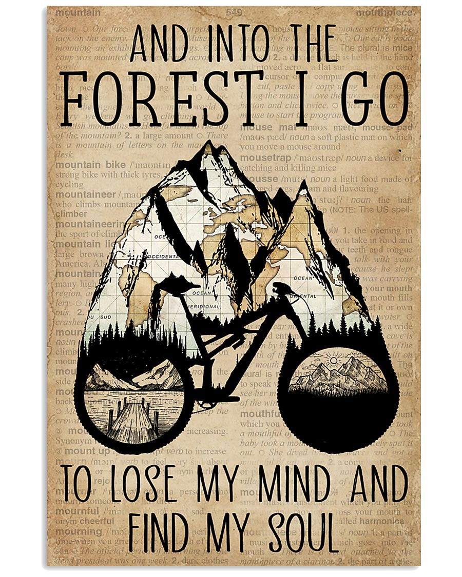 Dictionary Vintage Map And Into The Forest Cycling 11x17 Poster